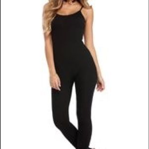 Fitted black jumpsuit